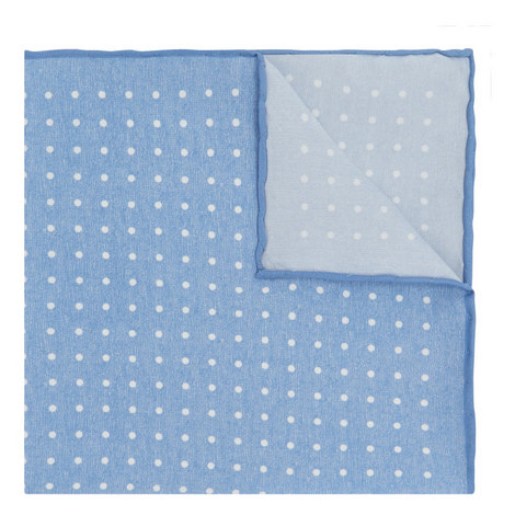 Polka Dot Print Pocket Square, ${color}