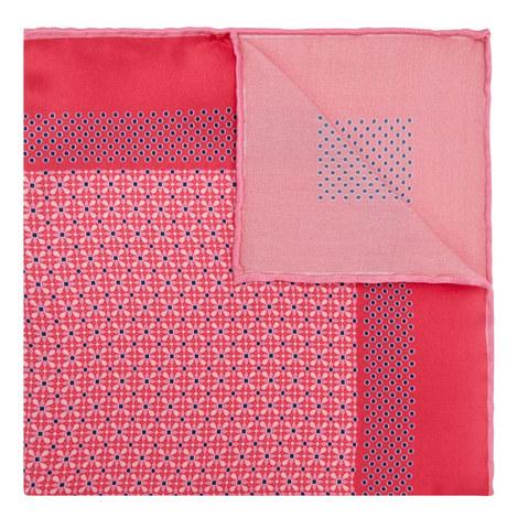 Mixed Print Silk Pocket Square, ${color}