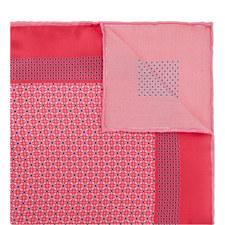 Mixed Print Silk Pocket Square