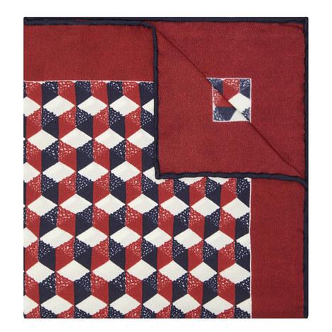 Contemporary Print Pocket Square, ${color}