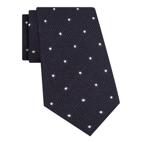 Grenadine Polka Dot Print Woven Tie, ${color}
