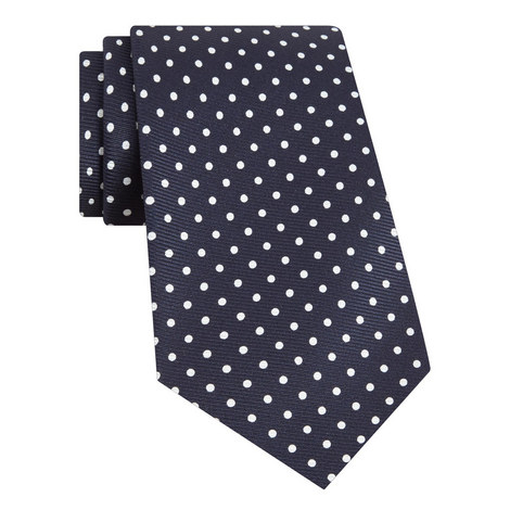 Foulard Polka Dot Print Tie, ${color}