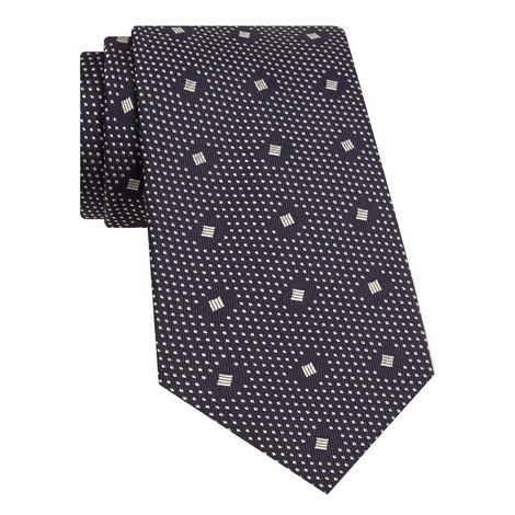 Jacquard Silk Tie, ${color}