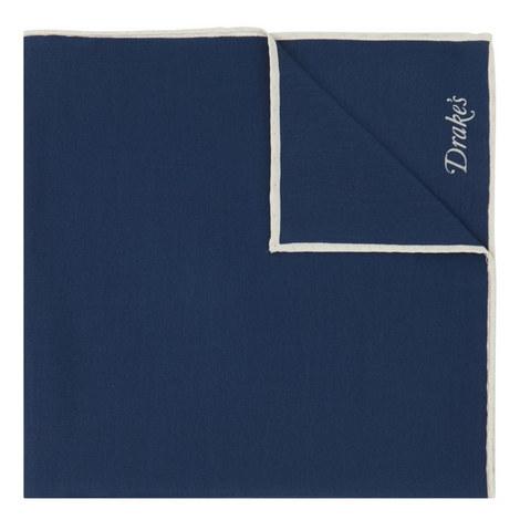 Bordered Silk Pocket Square, ${color}