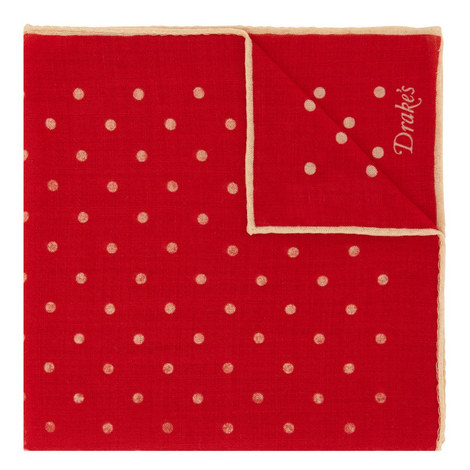 Dot Wool Mix Pocket Square, ${color}