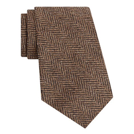 Woven Herringbone Wool Tie, ${color}