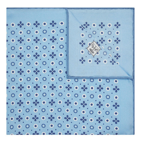Patterned Silk Pocket Square , ${color}