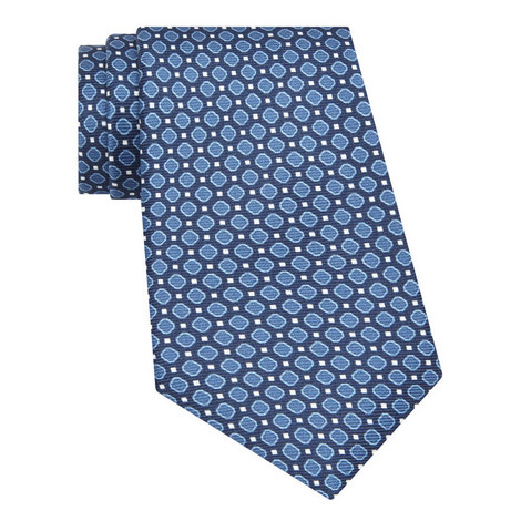 Patterned Ribbed Tie, ${color}