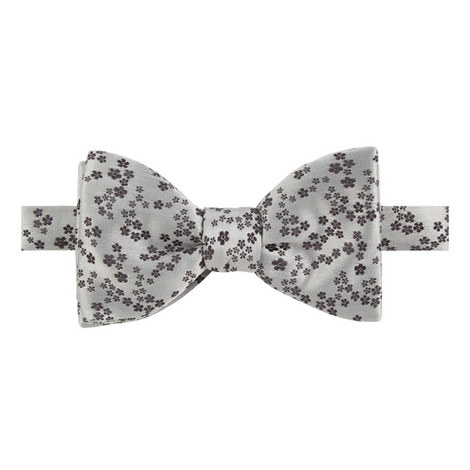 Floral Pattern Silk Bow Tie, ${color}
