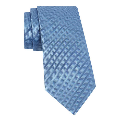 Herringbone Silk Tie, ${color}