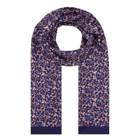 Floral Silk Scarf, ${color}