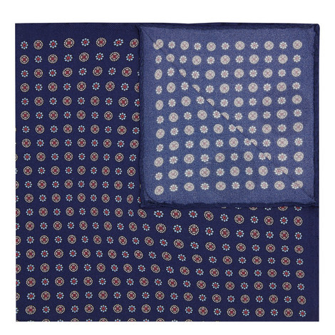 Floral Silk Pocket Square, ${color}