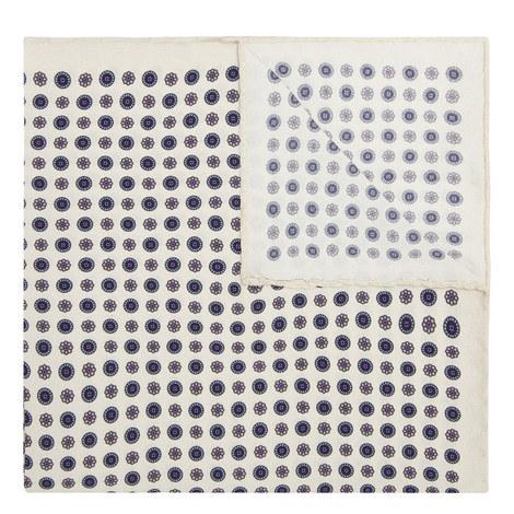 Floral Silk Pocket Square, ${color}