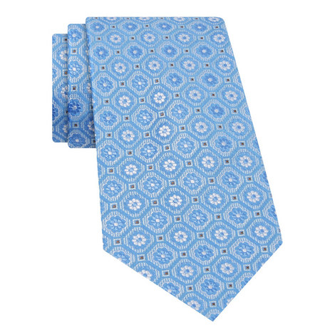 Geometric Floral Print Tie , ${color}