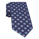 Geometric Floral Print Silk Tie, ${color}