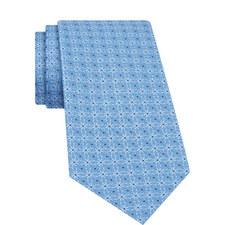 Geometric Circle Print Silk Tie