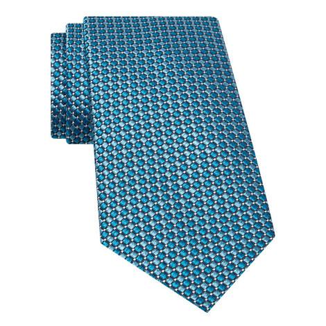 Diamond Print Woven Silk Tie, ${color}