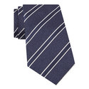 Striped Silk Tie , ${color}