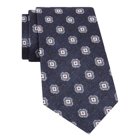 Embroidered Silk Tie, ${color}