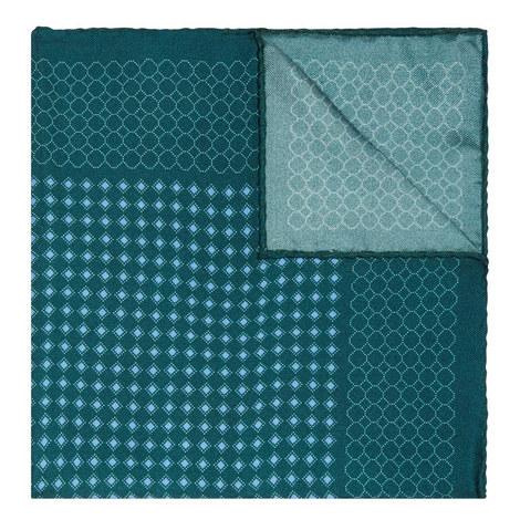 Diamond Print Silk Pocket Square, ${color}