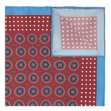 Floral Print Silk Pocket Square, ${color}