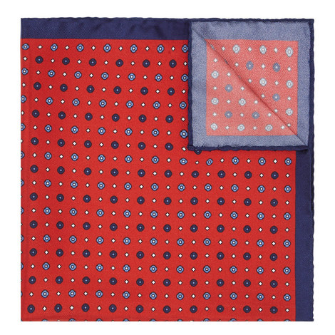 Patterned Silk Pocket Square, ${color}