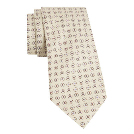 Circle Dot Silk Tie, ${color}