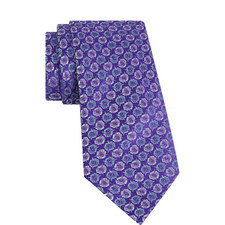 Floral Print Silk Tie