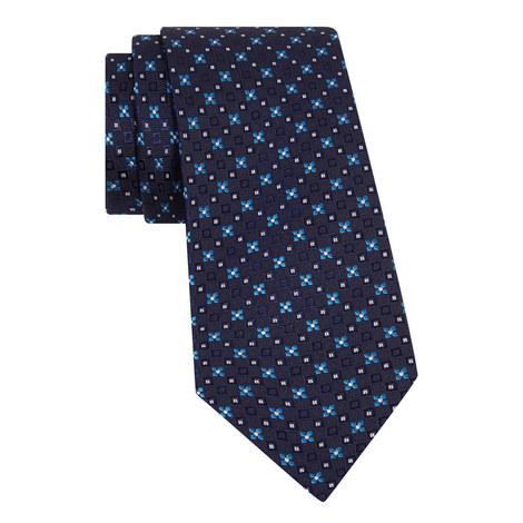 Geometric Flower Silk Tie, ${color}