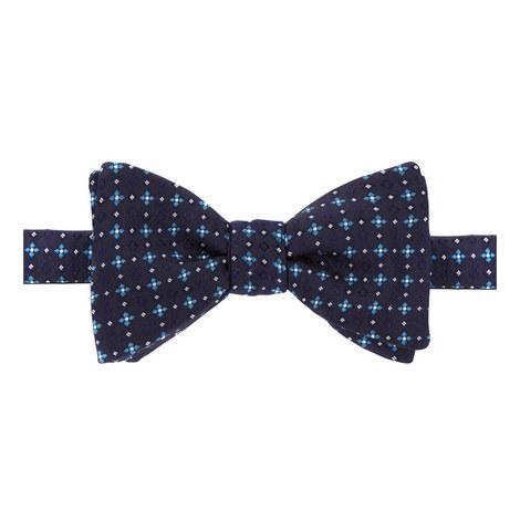 Geometric Flower Print Bow Tie, ${color}