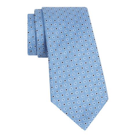 Textured Floral Dot Tie, ${color}