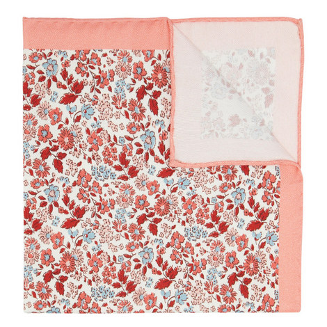 Floral Print Pocket Square, ${color}