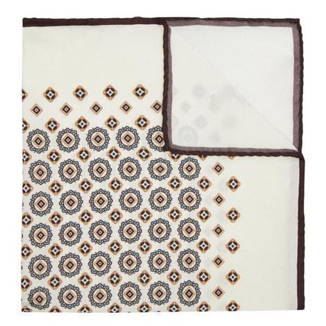 Geometric Print Pocket Square, ${color}