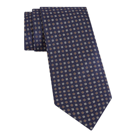 Diamond Floral Pattern Tie, ${color}
