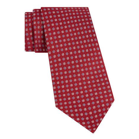 Diamond Floral Pattern Tie, ${color}