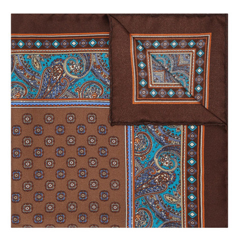 Paisley Tile Pocket Square, ${color}