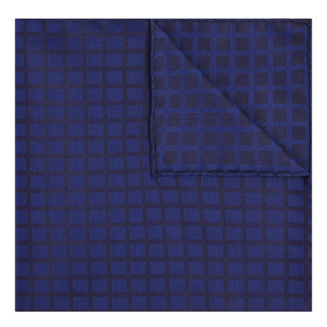 Check Print Pocket Square, ${color}