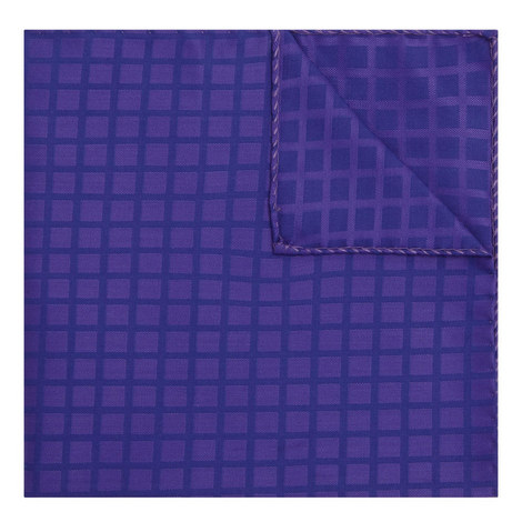 Check Print Pocket Square, ${color}
