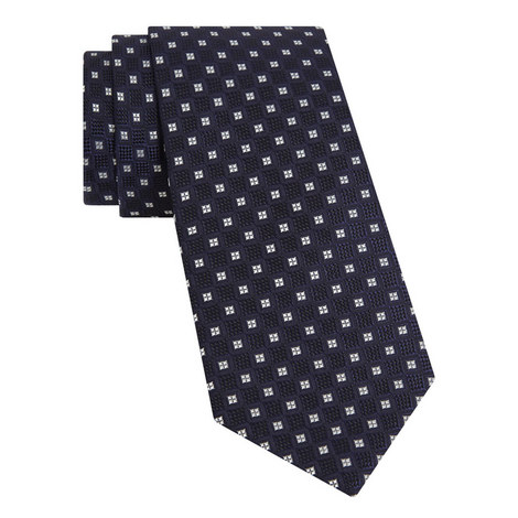 Textured Geometric Pattern Tie, ${color}