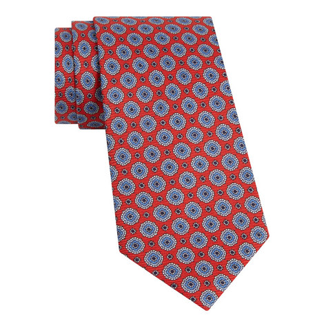 Geometric Print Tie, ${color}