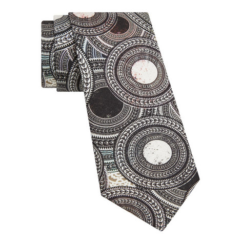Circle Print Tie, ${color}