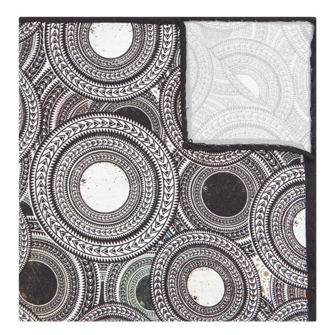 Circle Print Pocket Square, ${color}