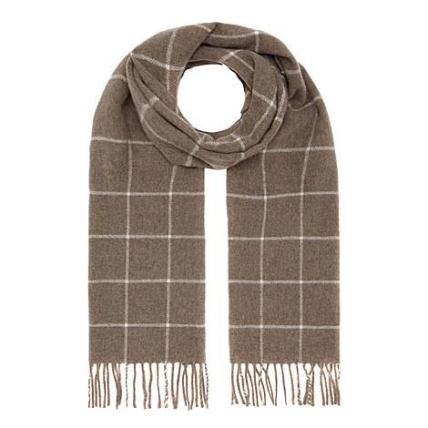 Large Check Scarf, ${color}