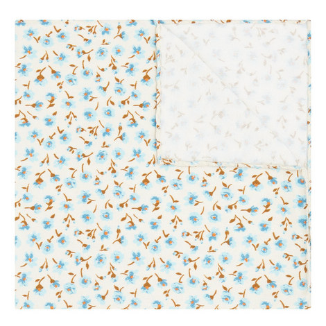Small Floral Print Pocket Square, ${color}