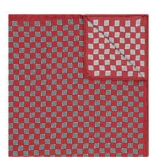 Geometric Print Pocket Square