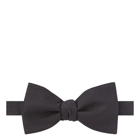 Textured Silk Bow Tie, ${color}