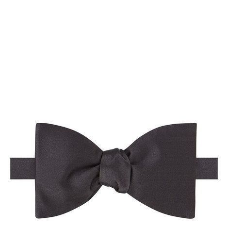 Solid Silk Bow Tie, ${color}