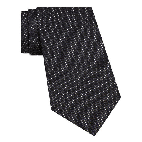 Embroidered Pin Dot Tie, ${color}