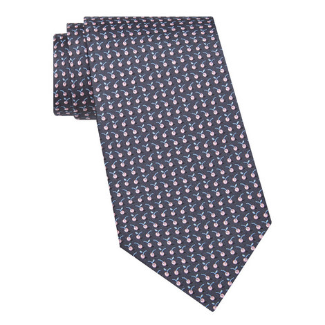 Cherry Print Silk Tie, ${color}
