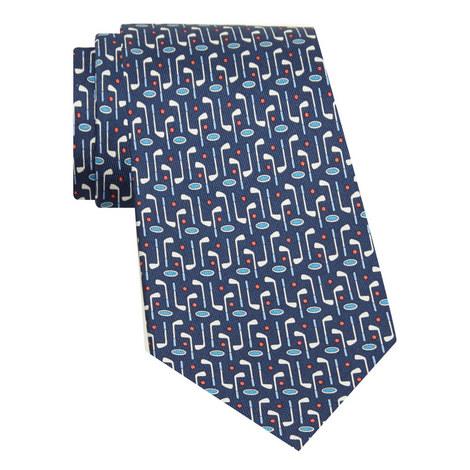 Golf Print Silk Tie, ${color}